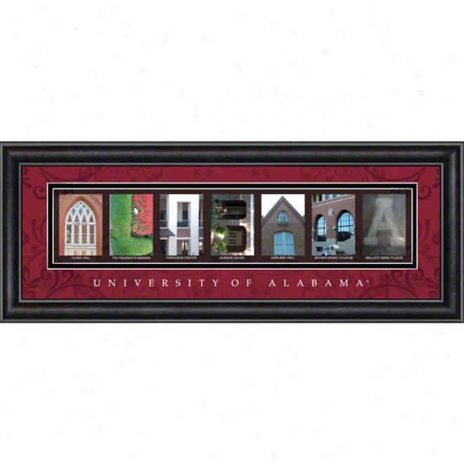 Alabama Crimson Tide Letter Art