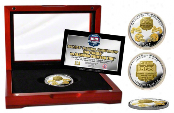 Alabama Crimson Tide Vs Lsu Tigers 2011 Bcs National Game Dueling Commemorative Gold Two-tone Coin