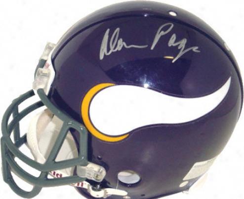 Alan Page Minnesota Vikings Autographed Pro Helmet