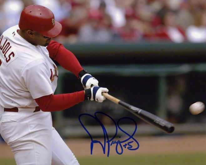 Albert Pujols Autographed 8x10 Photograph  Details: St. Louis Cardinals, Horrizontal