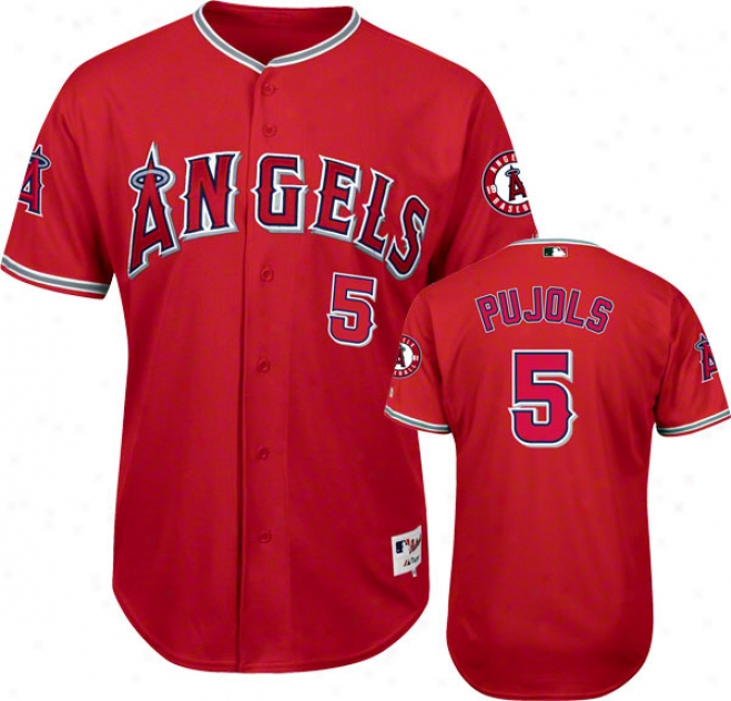 Albert Pujols Los Angeles Angels Of Anaheim Scarlet #5 Authentic Jersey