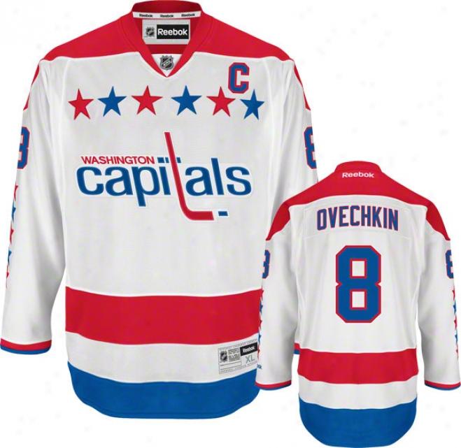Alex Ovechkin Jersey: Reebok Alternate #8 Washington Capitals Premier Jersey