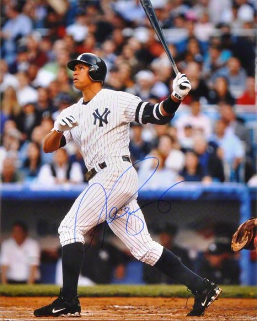 Alex Rodrigueez New York Yankees - Batting - Autographed 16x20 Pyotograph