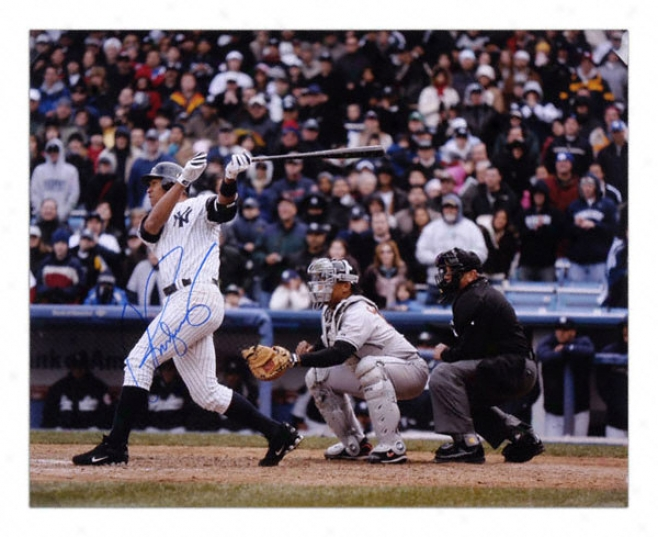 Alex Rodriguez New York Yankees - Hitting  -Autographed 16x20 Photograph