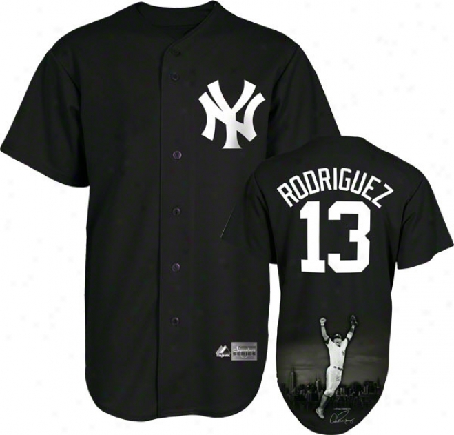 Alex Rodriguez New York Yankees Majestic Player Designed Signature Series Jersey