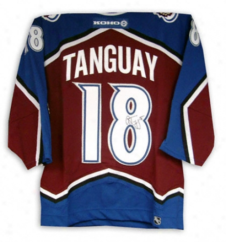 Alex Tangjay Autographed Jersey  Details: Colorado Avalanche, Burgundy