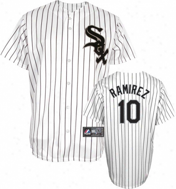 Alexei Ramirez Jersey: Adult Majestic Home Pinstripe Replica #10 Chicago White Sox Jersey