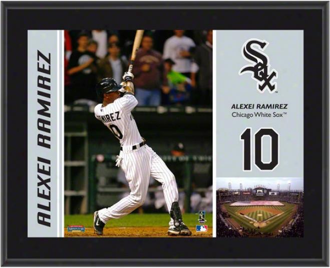Alexei Ramirez Plaque  Detaols: Chicago White Sox, Sublimated, 10x13, Mlb Plaque