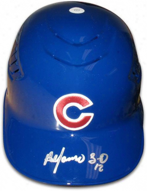 Alfonso Soirano Chicago Cubs Autographed Full-size Authentic Batting Helmet