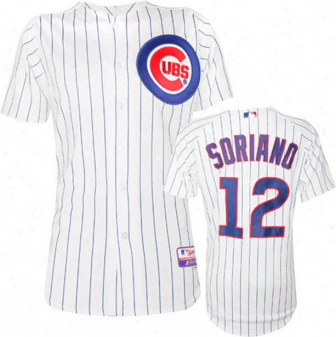 Alfonso Sorano Majestic Home Authentic Onfield Co0l Base Chicago Cubs Jersey