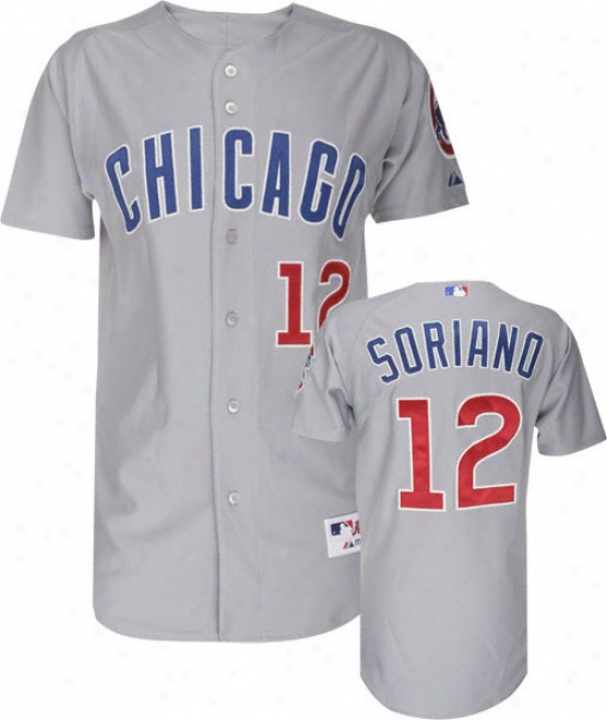 Alfonso Skriano Majestic Mlb Road Grey Authentic Chicago Cubs Jerseu