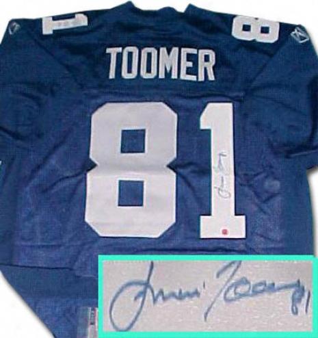 Amani Toomer New York Giants Autographed Reebok Blue Jersey