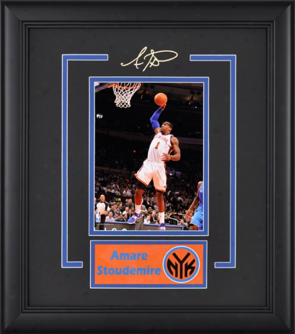 Amar'e Stoudemire Frame Photograph  Details: 4x6, New York Knicks, Nameplate