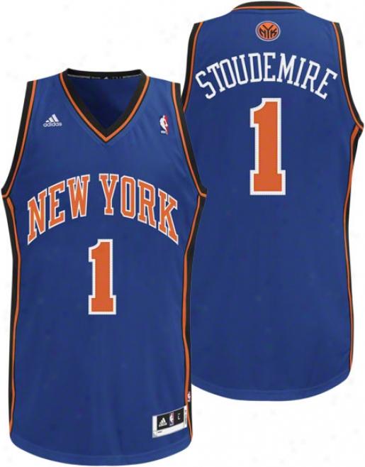 Amar'e Stoudemire Jersey: Adidas Blue Swingman #1 New York Knicks Jersey