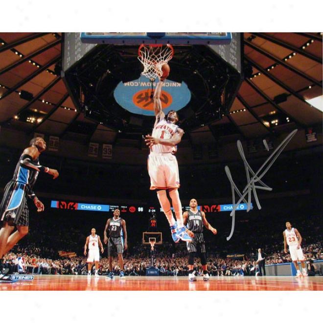 Amar'e Stoudemire New York Knicks Vs Orlando 8x10 Autographed Photograph