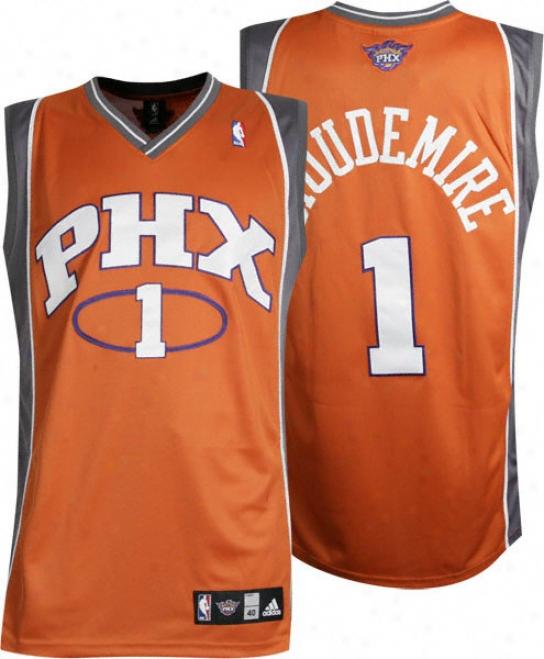 Amar'e Stoudemire Orange Adidas Nba Authentic Phoenix Sums Jersey