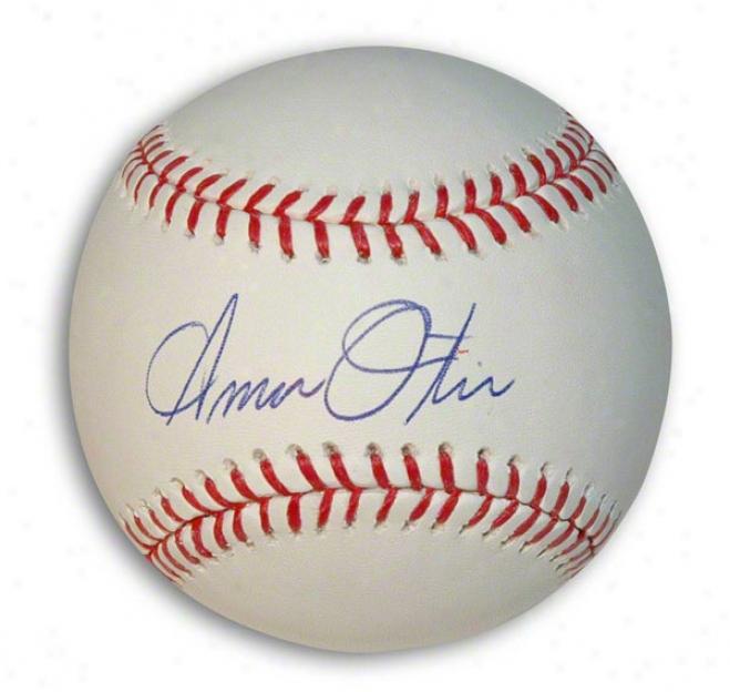 Amos Otis Autographed Baseball