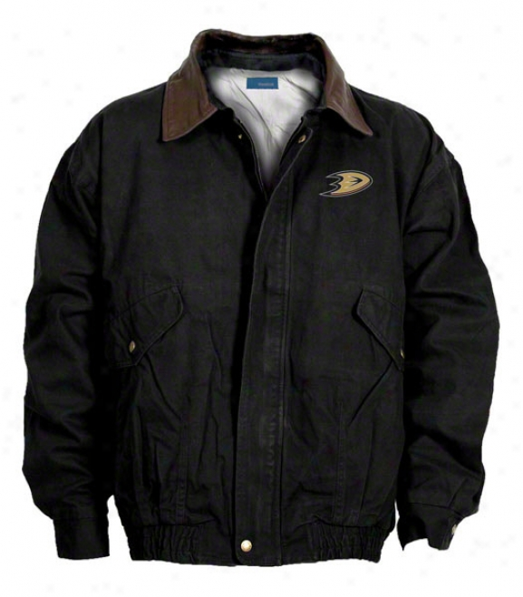 Anaheim Ducks Jacket: Black Reebok Navigator Jacket