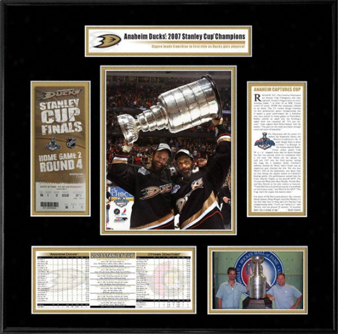 Anaheik Ducks - Scott And Rob Niedermayer - 2007 Stanley Cup Champions Ticket Frame