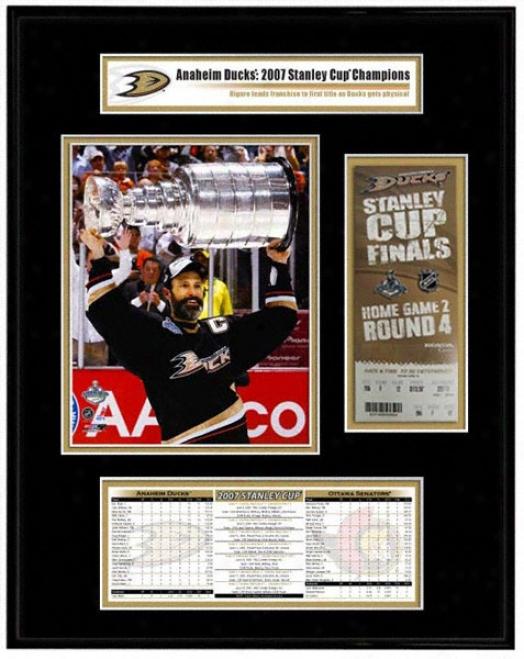 Anaheim Ducks - Scott Niedermayer - 2007 Stanley Cup Champions Tickst Frame Jr.