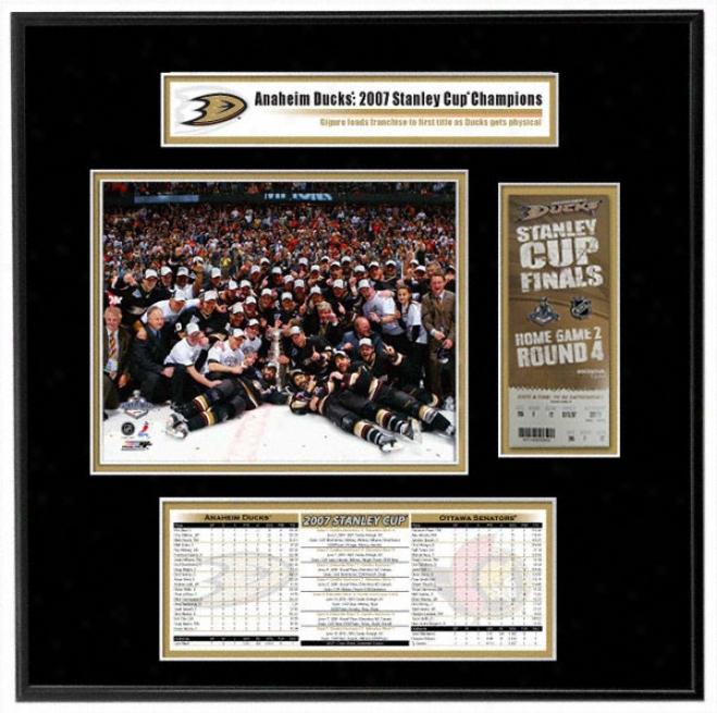 Anaheim Ducks - Team Celebration - 2007 Stanley Cup Champiojs Ticket Fraje Jr.