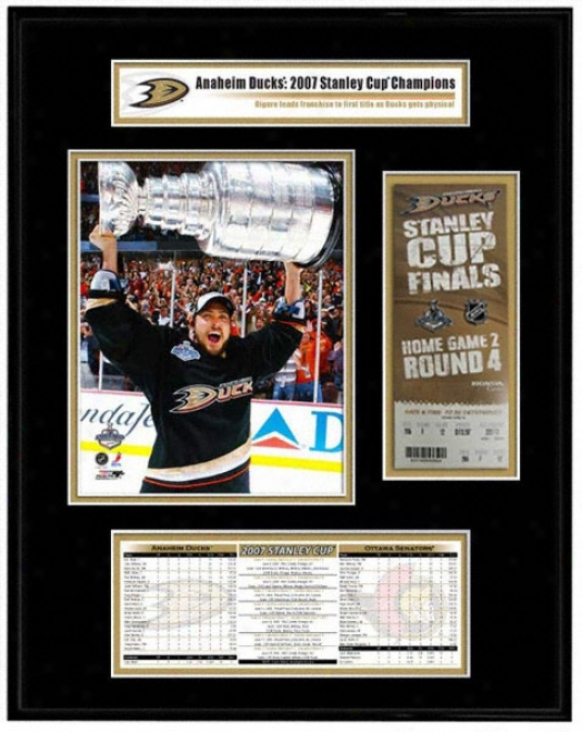 Anaheim Ducks - Teemu Selamne - 2007 Stanley Cup Champions Ticket Frame Jr.