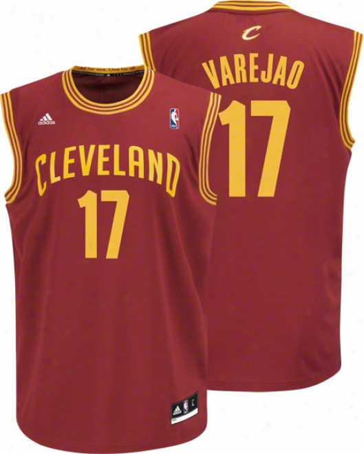 Anderson Varejao Jersey: Adidas Revolution 30 Burgundy Replica #17 Cleveland Cavaliers Jersey