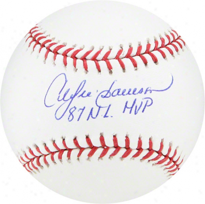 Andre Dawson Autographed Baseball  Details: 87 Mvp Inscription