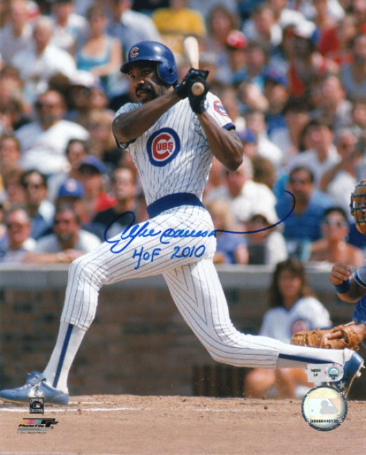 Andre Dawson Autographed Photograph: Signed Chicago Cubs 8x10 Photograph With Hof 2010 Inscription