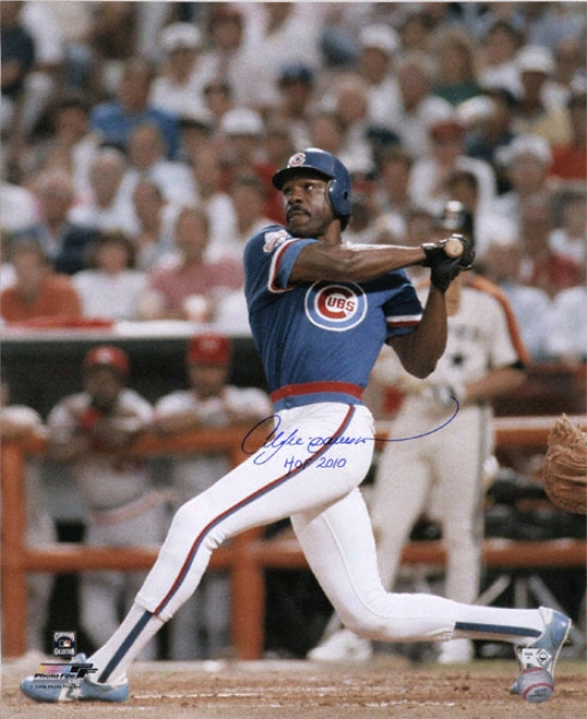 Andre Dawson Chicago Cubs Autographed 16x20 Photograph Upon Hof 2010 Inscription