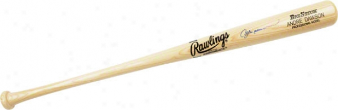 Andre Dawson Chicago Cubs Autographed Rawling Name-engraved Bat