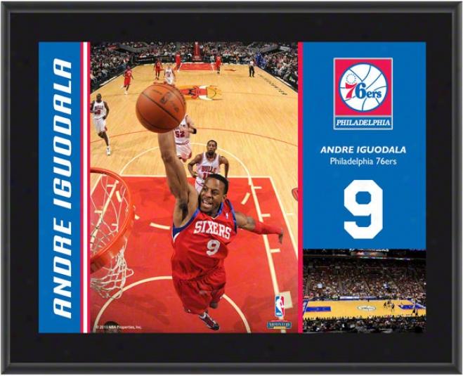 Andrre Iguodala Plaqie  Details: Philadelphia 76ers, Sublimated, 10x13, Nba Plaque