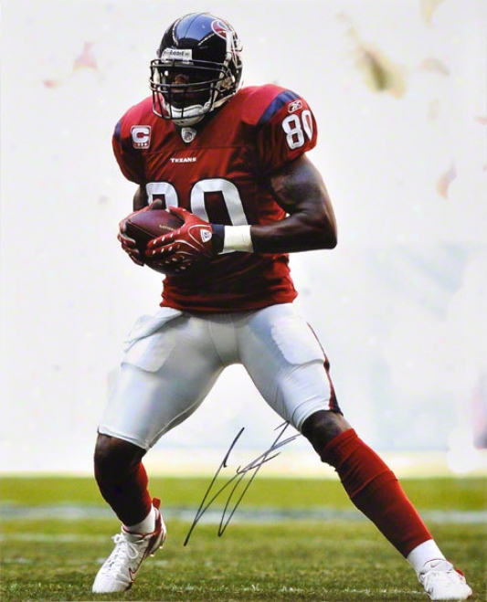 Andre Johnson Autographed 16x20 Photograph  Details: Houston Texans, Missile  In Both Hands