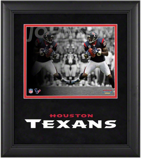 Andre Johnson Framed Phootograph  Details: 8x10, Reflections, Houston Texans