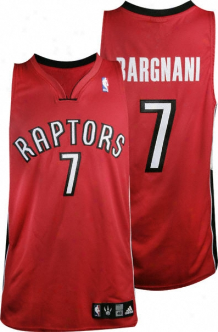 Andrea Bargnani Red Adidas Nba Authentic Toronto Raptors Jersey