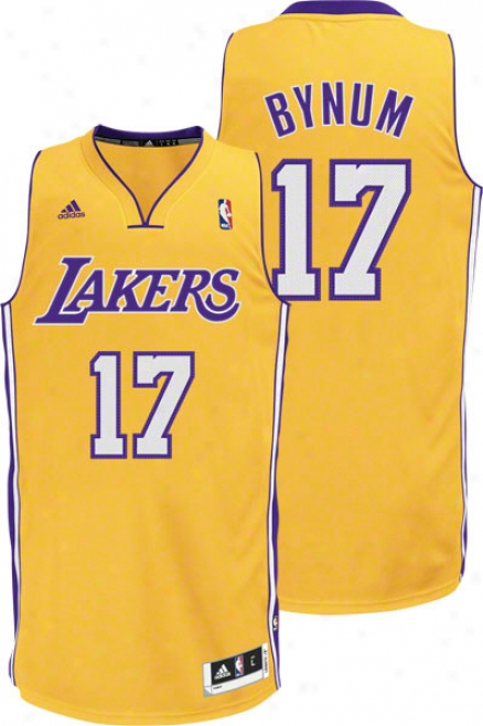 Andrew Bynum Gold Adidas Revolution 30 Swingman Los Angeles Lakers Jersey