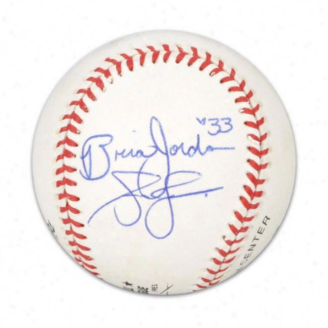 Andruw Jones & Brian Jordan Autographed Baseball