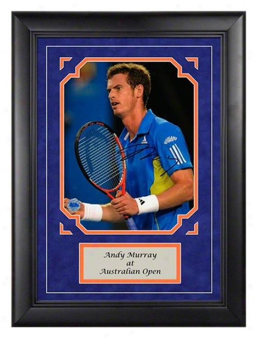 Andy Murray Autograph Australian Open Framed Photograph