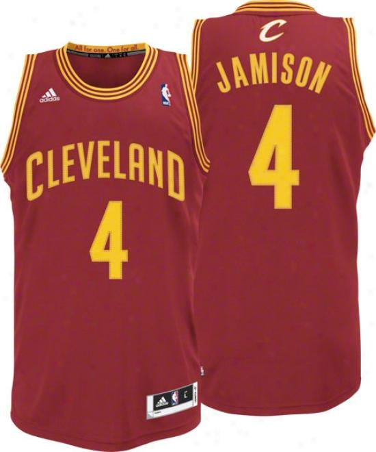 Antawn Jamison Burgundy Adidas Revolution 30 Swingman Cleveland Cavaliers Jersey