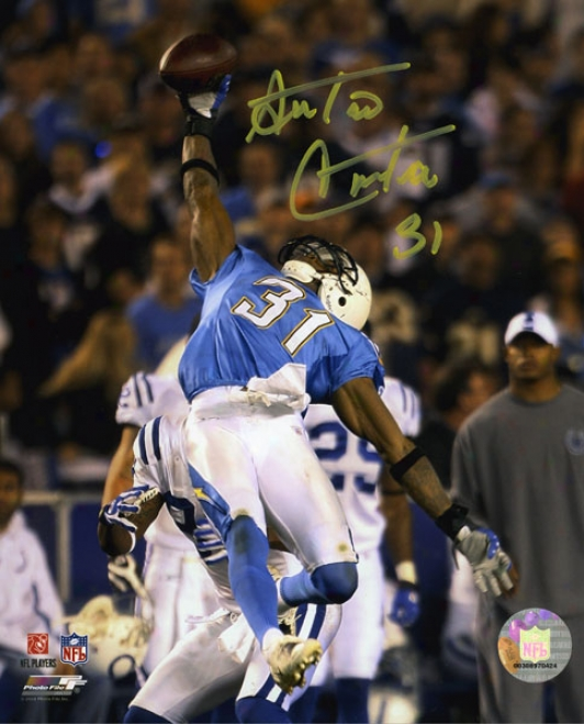 Antonio Cromartie Autoographed Photograph  Details: San Diego Chargers, 8x10