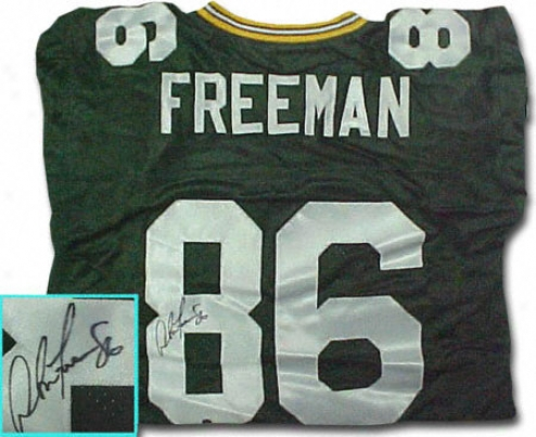 Antonio Freeman Green Bay Packers Autographed Throwback Green Jersey