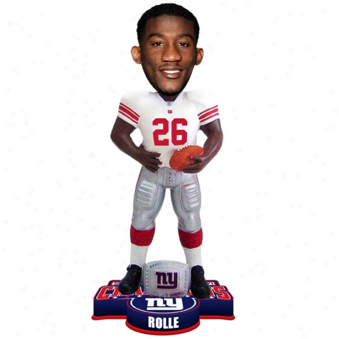 Antreel Rolle #26 New York Giants Super Bowl Xlvi Champions Ring Bobble Head