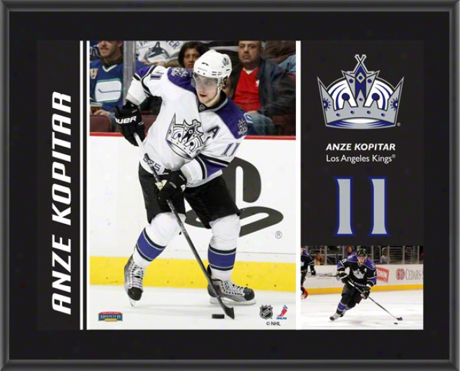 Anze Kopitar Plaque  Detai1s: Los Angeles Kings, Sublimated, 10x13, Nhl Plaque