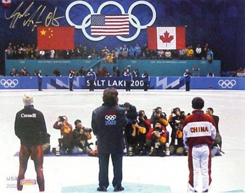 Apolo Anton Ohno Olympics 11x14 Autographed Photograph