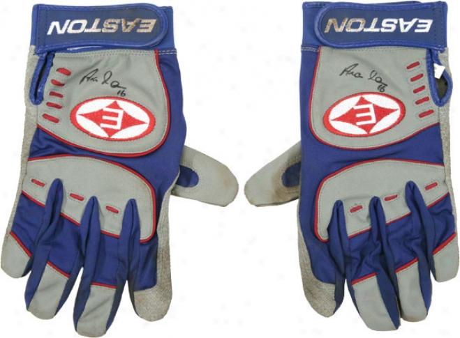 Aramis Ramirez Chicago Cubs Autographed 2006 Game Used Easton Grey Batting Gloves-set Of 2