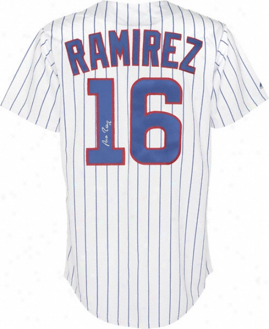 Aeamis Ramirez Chicago Cubs Autographed Majestic Athletic Replica Home Jersey