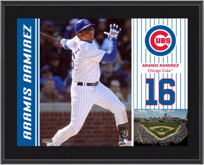 Aramis Ramirez Plaque  Details: Chicago Cubs, Sublimated, 10x13, Mlb Plaque