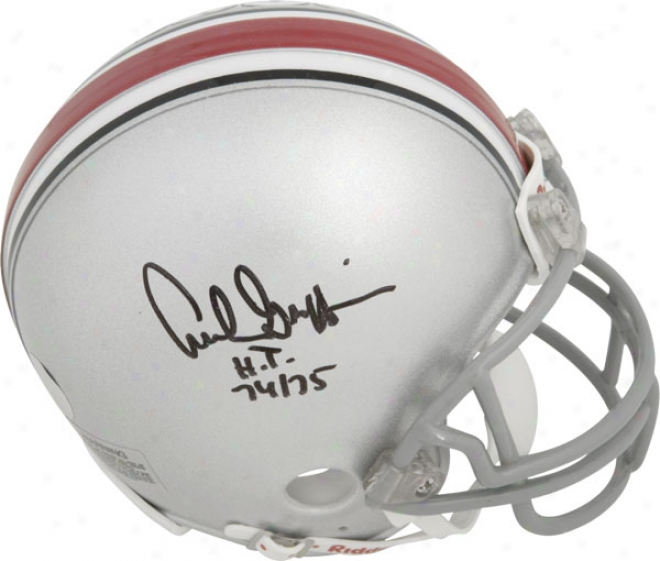 Archie Griffin Ohio State Buckeyes Autographed Mini Helmet W/ Inscription &quotht 74-75&quot