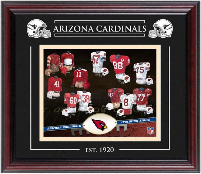 Arizona Cardinals - Evolution - Framed 8x10 Collage With Laser Etching