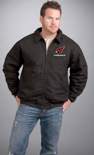 Arizona Cardinals Jerkin: Black Reebok Saginae Jacket